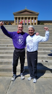 1485 stairs with George P. at the Rocky Steps in Phily